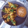 Chicken Satay Skewers with Macadamia Satay Sauce