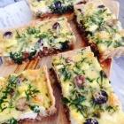 Kale, Olive & Macadamia Tart