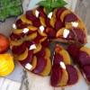Roast Beetroot, Ricotta & Walnut Tart (Golden & Red Beetroot)