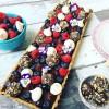 Chocolate, Lavender, Blueberry Tart