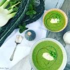 Roast Fennel & Zucchini, Cavalo Nero & Pea Soup