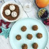 Cranberry & Pistachio Cheesecake Bites w Gingernut Crumb