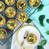 Pumpkin, Thyme & Goat's Cheese Mini Quiches