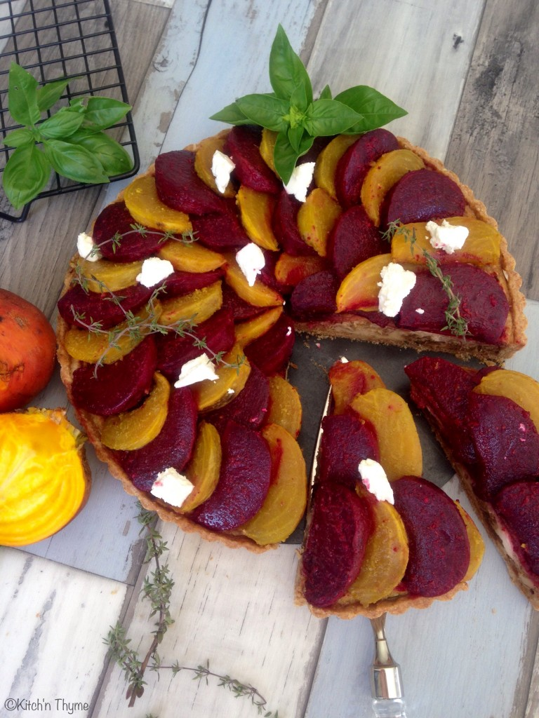Roast Beetroot Tart