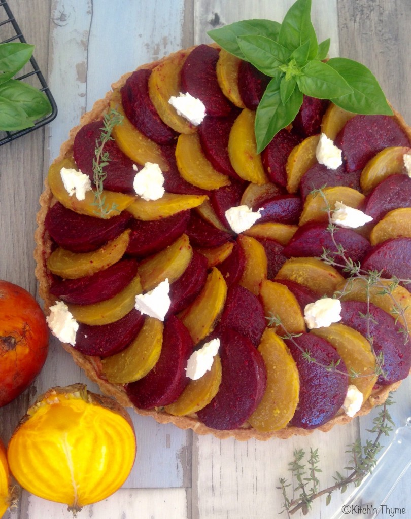 Roast Beetroot Tart close