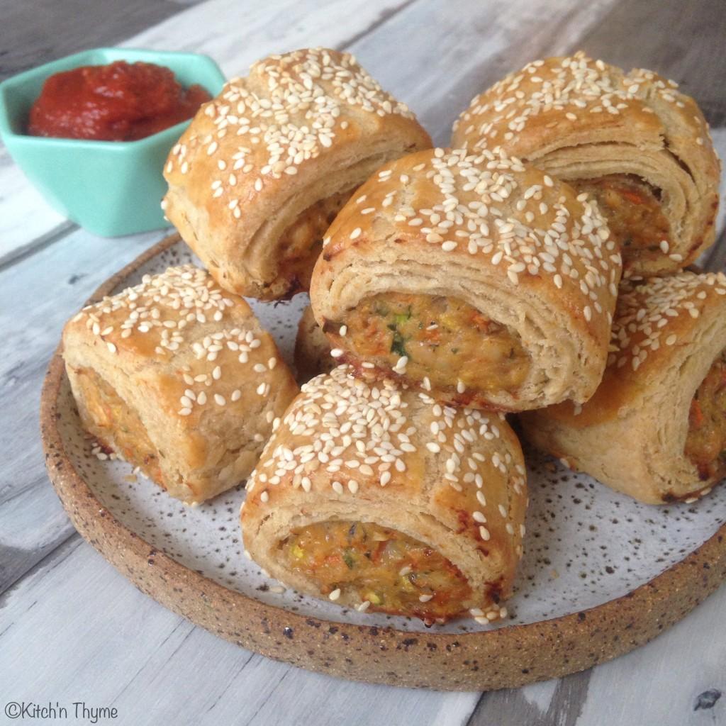 Chicken & Vege Sausage Rolls 2