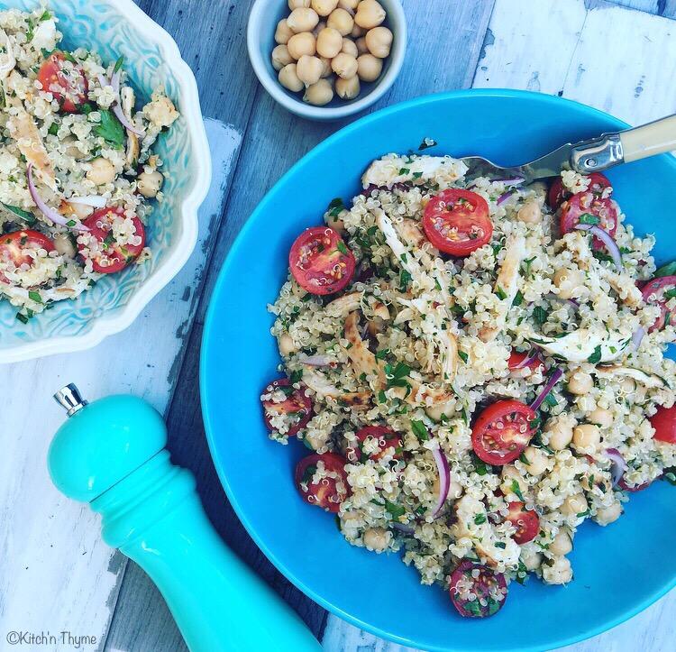 Chicken, Quinoa & Chickpea Salad