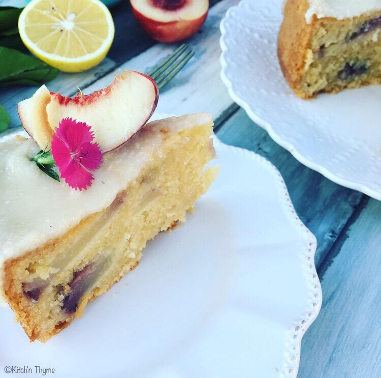Coconut Nectarine Cake 3