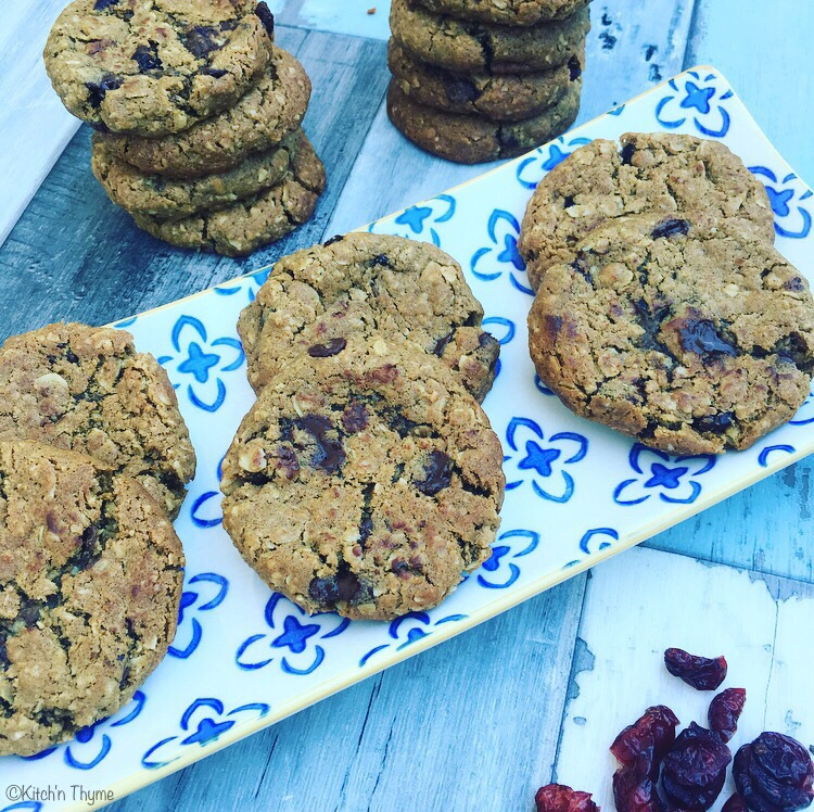 Cran, Oat, & Choc Chip cookie